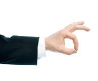 Кавказский мужской изолированный состав руки Стоковая Фотография