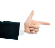 Кавказский мужской изолированный состав руки Стоковые Фотографии RF