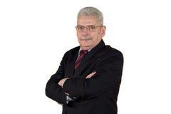 кавказский старший портрета менеджера Стоковое Изображение