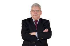 кавказский старший портрета менеджера Стоковая Фотография RF