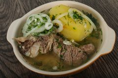 Кавказский суп мяса - Hashlama Стоковая Фотография RF