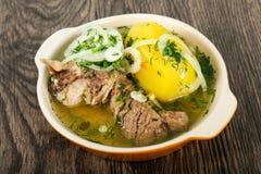 Кавказский суп мяса - Hashlama Стоковые Фото