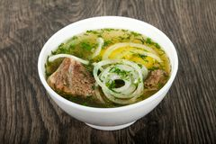 Кавказский суп мяса - Hashlama Стоковая Фотография