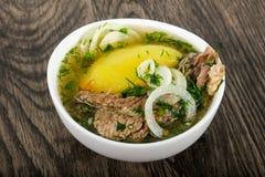 Кавказский суп мяса - Hashlama Стоковое фото RF
