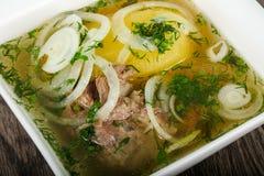 Кавказский суп мяса - Hashlama Стоковое Изображение RF