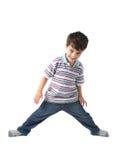 кавказский счастливый малыш смотря усмешку к вам Стоковые Изображения