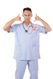 кавказский человек доктора отсутствие телефона Стоковые Фотографии RF