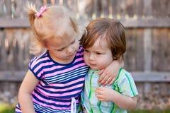 2 кавказских малыша Стоковое Фото