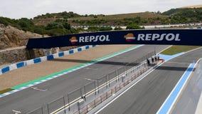 КАДИС - 28-ОЕ МАЯ: Формула V8 3 отборочных матчей чемпионата мира 5 на Jerez de Ла Передн сток-видео