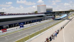 КАДИС - 28-ОЕ МАЯ: Формула V8 3 отборочных матчей чемпионата мира 5 на Jerez de Ла Передн видеоматериал