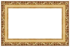 кадр 7 золотистый Стоковое Изображение