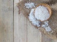 каждая белизна текстуры риса зерен зерна видимая Стоковые Изображения