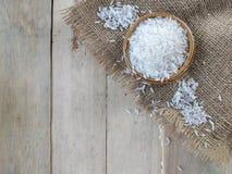каждая белизна текстуры риса зерен зерна видимая Стоковое фото RF
