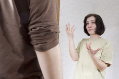 каждый супруг другое к кричать супруги Стоковые Фотографии RF