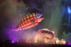 Каждогодный большой парад драконов Стоковое Изображение RF