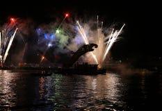 Каждогодный большой парад драконов Стоковая Фотография RF