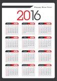 Каждогодный календарь 2016 стоковое фото rf