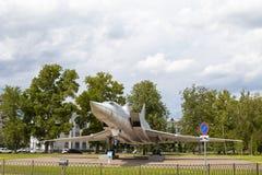 КАЗАНЬ, РОССИЯ, 5-ОЕ ИЮНЯ 2018: Самолет-памятник TU-22M3 стоковые изображения