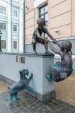Казань, Россия - 26-ое марта 2017 Доверие самая лучшая скульптура конкуренции 2016 стоковые фото