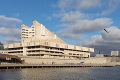 КАЗАНЬ, РОССИЯ - 5-ОЕ НОЯБРЯ 2018: Театр Tatarian академичный квадрата Kamal и Kamal, театра был построен в 1987 стоковые изображения rf