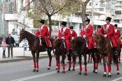 Казацкий парад в Краснодаре, России Стоковое Фото