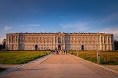 КАЗЕРТА, ИТАЛИЯ - 24-ОЕ СЕНТЯБРЯ 2017: Королевский дворец Казерты стоковое изображение rf