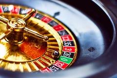 Казино, везение и золото, в рулетке карибского круиза Стоковая Фотография RF