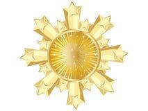 казино знамени золотистое иллюстрация вектора
