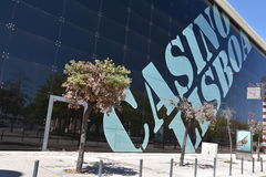 Казино Лиссабон в Лиссабоне, Португалии стоковое фото