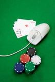 казино он-лайн стоковая фотография