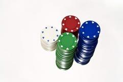 казино откалывает белизну Стоковое Изображение