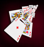 Казино покера играя карточек Стоковые Фотографии RF