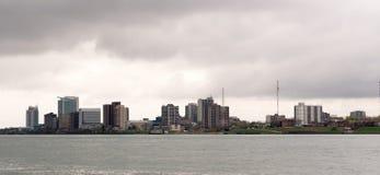 Казино Река Detroit горизонта города Виндзора Канады городское Стоковая Фотография RF