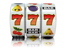 казино Торговый автомат с джэкпотом Стоковое Изображение