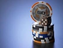 казино 3d откалывает иллюстрацию Стоковые Фото