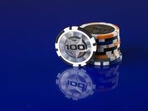 казино 3d откалывает иллюстрацию Стоковые Изображения