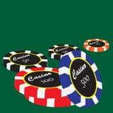 казино 3d откалывает иллюстрацию Стоковые Изображения RF
