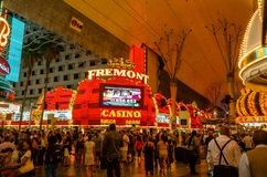 Казино Fremont, Лас-Вегас стоковая фотография