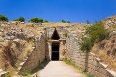 казначейство городка mycenae Греции стоковая фотография