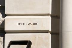 казначейство hm london стоковое изображение rf