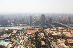 Каир от верхней части Стоковое фото RF