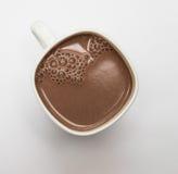 Какао в белой чашке Стоковые Изображения