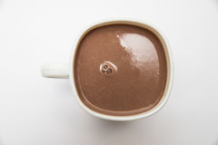 Какао в белой чашке Стоковое Фото