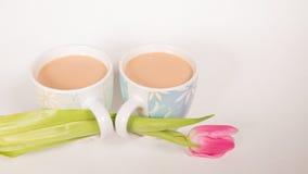 Какао и цветок Стоковое Изображение RF