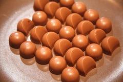 Какао помадок и конфет конуса мороженого Стоковое фото RF