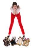 Какие ботинки, котор нужно нести? Стоковые Изображения RF
