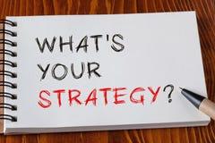 Какое ` s ваша стратегия Стоковое Изображение RF