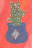 Кактус акварели бесплатная иллюстрация