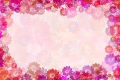 кактус цветет открытка Стоковые Изображения