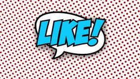 КАК - анимация стиля воздушных шаров речи слова шуточная иллюстрация штока